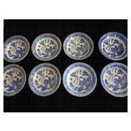 Blue Willow, Japan, Salad Bowls, Matching, Set of 8