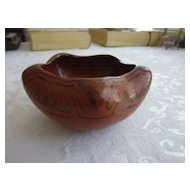 Vintage Pueblo Indian Maricopa Star Shaped Pot