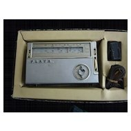 Plata All Wave Portable 8Transistor Radio Japan Orig Box