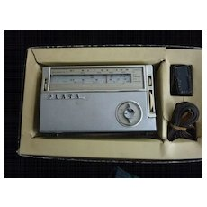 Plata All Wave Portable 8Transistor Radio Japan Orig Box