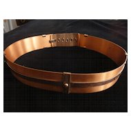 "Renoir Signed Copper Belt, 1 1/2"" X 26"""