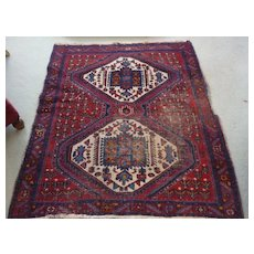 "Persian Rug, Hand Knotted, 48"" X 60"""