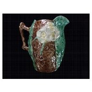 Majolica Pitcher, Dogwood Flowers, Leaves, Tree