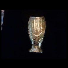"""Savoy China Weeping Gold Vase, 11"""""""