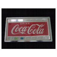"1960's Drink Coca Cola Plastic Sign, 21"" X 12"""