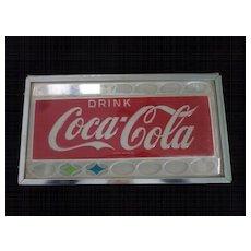 "1960's Drink Coca Cola Plastic Sign, 21"" X 12"""