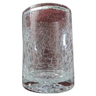 Heavy Crackle Glass Ice Bucket, Made In Poland