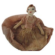 Vintage Folk Art Doll Toaster Cover