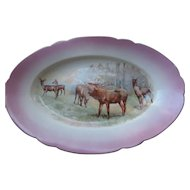 """Imperial Crown China Game/Meat Platter, 18"""""""