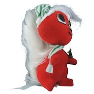 Dakin Dream Pets Red and White Christmas Skunk