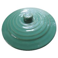 """Bauer Green Ring Ware Lid, 7 3/4"""""""