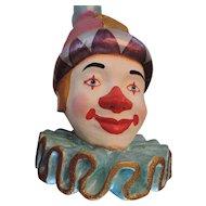 "Large, 20"", Colorful Decorative Clown Head"