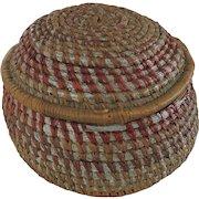 Tramp Art Coiled Basket
