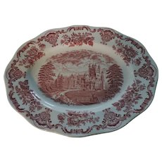 Royal Homes of Britain, Balmoral Castle, Pink and White, Platter, Enoch Wedgwood
