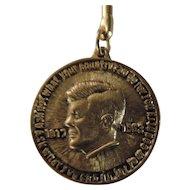 John F. Kennedy Memorial Key Chain, Brass