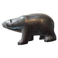 Carved Soapstone Polar Bear