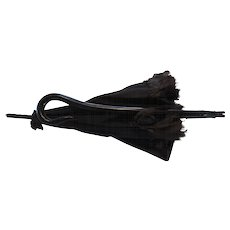Civil War Era Child's Folding, Hinged, Mourning Parasol