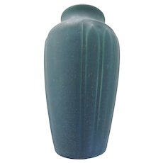 Rookwood Matte Blue Molded Vase, #1823, ca 1914