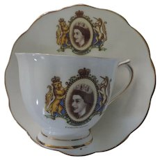 Royal Albert Coronation Tea Cup & Saucer, Queen Elizabeth II