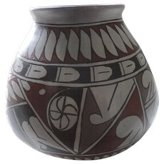 "Pueblo Pottery, Red, Black, Grey, 6 1/2"",  Nelso Parra,"