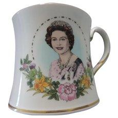 Coalport Coffee Mug Commemorating Queen Elizabeth II 60th Birthday, Original Box