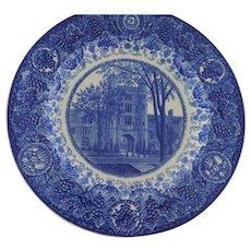 University of Michigan Wedgwood Etruria Blue and White Plates, Set of 8