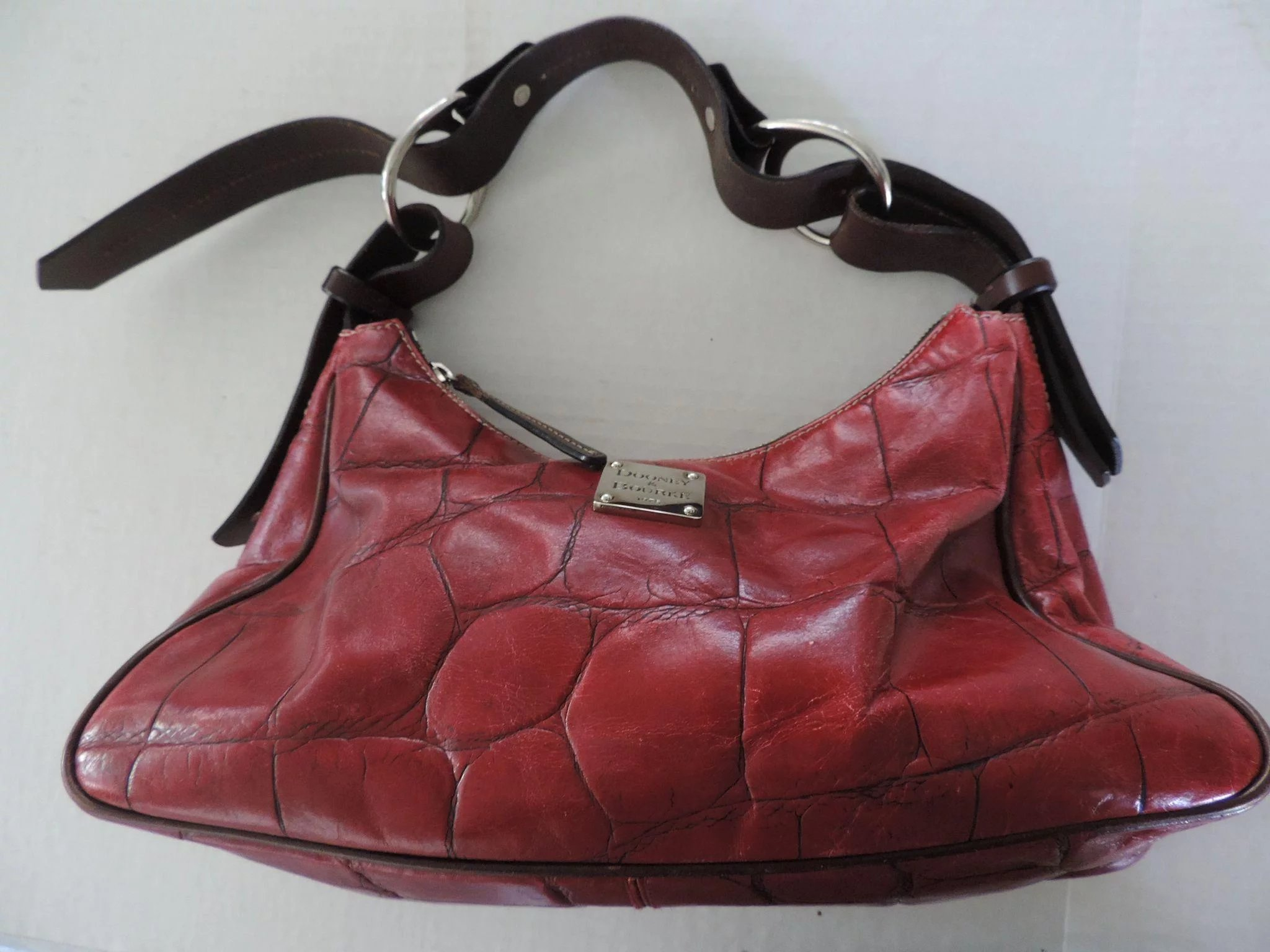 d96a17872a Vintage Dooney   Bourke Oxblood Red Handbag