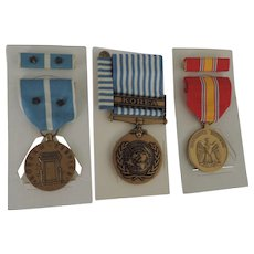 US Korean War Service Medals, Korean Service, National Defence, United Nations Service