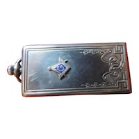 Masonic Sterling Silver Watch Fob/Photo Locket, Alfred Schickerling