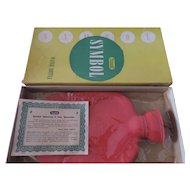 Rexall Symbol Hot Water Bottle, Never Used, Original Box