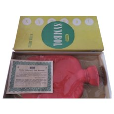 Rexall Symbol Hot Water Bottle, Never Used, Original Box
