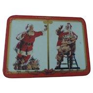 Coca Cola Nostalgic Playing Cards, 2 Santa Claus Decks, New In Tin