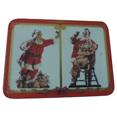 Coca Cola Nostalgic Playing Cards, 2 Santa Claus Decks, New In Tin