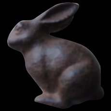 Small Cast Iron Sitting Rabbit