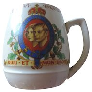 Minton George VI and Queen Elizabeth Coronation Mug, May 1937