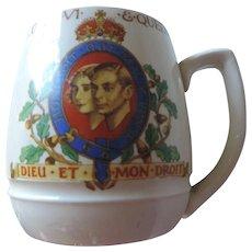 Minton George VI and Queen Elizabeth Coronation Mug, May 1937
