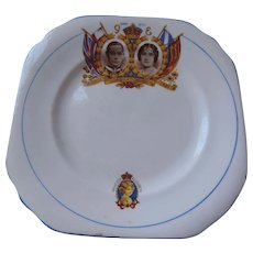 Duchess China George Vi, Elizabeth, and Princess Elizabeth, Bread Plate