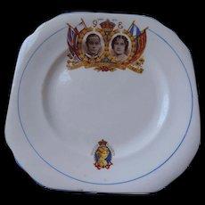 Duchess China George Vi, Elizabeth, and Princess Elizabeth, Bread Plate