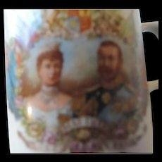 Coronation Mug, King George V and Queen Mary, Crowned June 22nd, 1911