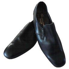 Vintage Men's Bally Continentals Black Slip On Dress Shoes, 10 1/2D