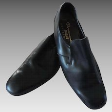 Vintage Men's Bally Continentals Black Slip On Dress Shoes, 10 1/2D