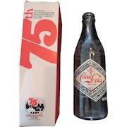 Coca Cola 75th Anniversary Bottle and Original Box