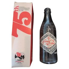 Coca Cola 75th Anniversary Bottle and Original Box