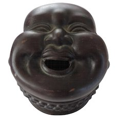 Buddha Head Ceramic Covered Box