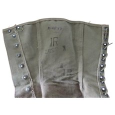 US Army WWII Canvas Leggings/Gaiters