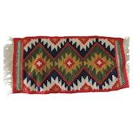 "Small 8 1/2"" X 19"" Navajo Style Woven Rug"