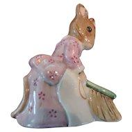 "Beswick Beatrix Potter Figurine, ""Hunca Munca Sweeping"", 1977"