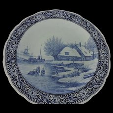 "Delft Royal Sphinx, Blue & White Charger, 15 1/2"", Maastricht, Holland"
