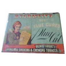 B. F. Gravely's Best Flue Cured Plug Cut Tobacco Tin