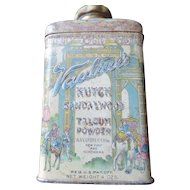 Vantine Kutch Sandalwood Talcum Powder Tin, Art Nouveau